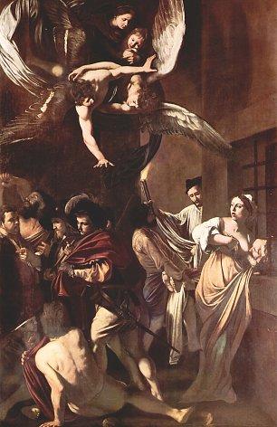 Michelangelo Caravaggio Die sieben Werke der Barmherzigkeit Wandbilder