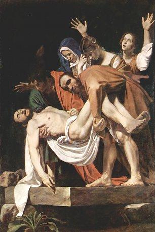 Michelangelo Caravaggio Grablegung Christi Wandbilder