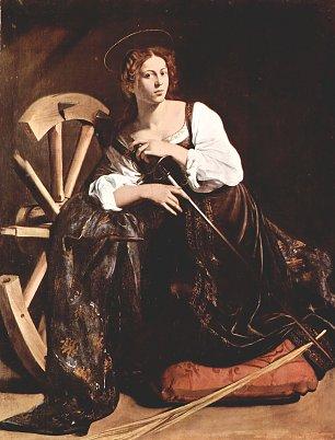 Michelangelo Caravaggio Hl Katharina von Alexandrien Wandbilder