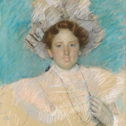 Mary-Cassatt-Adaline-Havemeyer-in-a-White-Hat