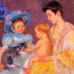 Mary-Cassatt-Children-Playing-with-a-Cat