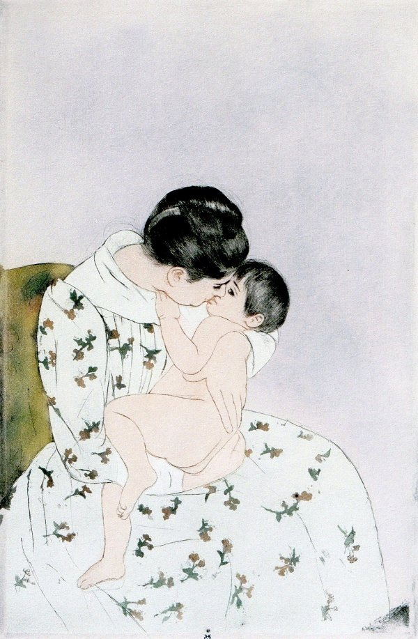 Mary Cassatt Mothers Kiss