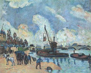 Paul Cezanne Am Quai de Bercy in Paris Wandbild
