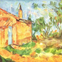Paul-Cezanne-Die-Huette-Jourdans