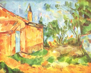 Paul Cezanne Die Huette Jourdans