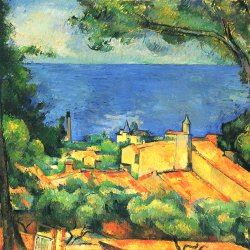 Paul-Cezanne-L-Estaque-mit-roten-Daechern