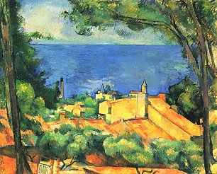 Paul Cezanne L Estaque mit roten Daechern Wandbild