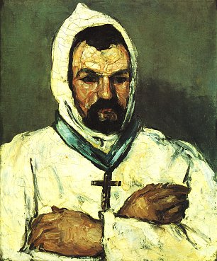 Paul Cezanne Portrait des Onkel Dominique als Moench Wandbild
