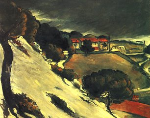 Paul Cezanne Schneeschmelze in L Estaque Wandbild
