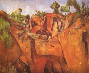 Paul Cezanne Steinbruch Bibemus Wandbilder