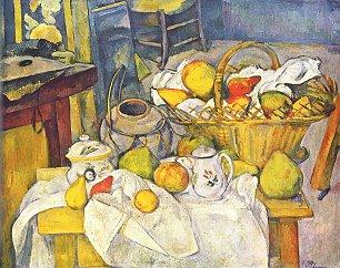 Paul Cezanne Stillleben mit Fruechtekorb Wandbilder