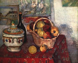 Paul Cezanne Stillleben mit Suppenterrine Wandbild