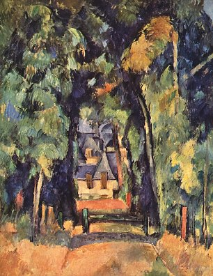 Paul Cezanne Strasse in Chantilly Wandbild
