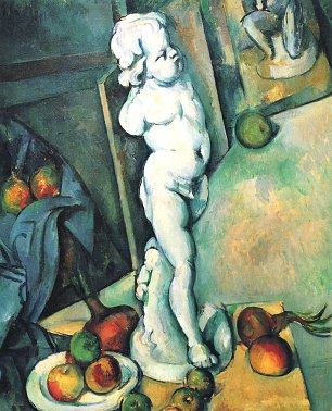 Paul Cezanne tillleben mit Putto