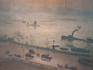 Emile Claus Morning Reflection on the Thames in London Wandbild