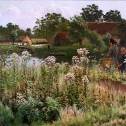 Emile-Claus-The-river-Lys-at-Astene