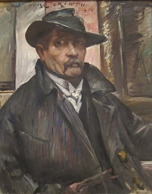 Lovis Corinth Self portrait with Hat and Coat Wandbild