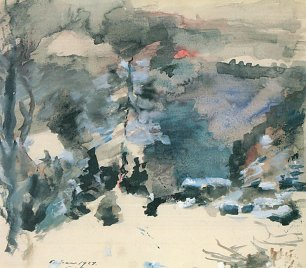 Lovis Corinth Walchensee im Winter