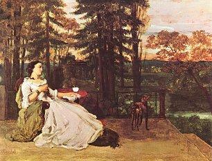 Gustave Courbet Dame auf der Terrasse Le dame de Francfort Wandbilder