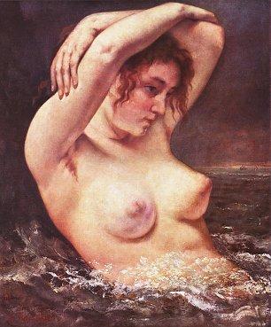 Gustave Courbet Die Badende Wandbilder