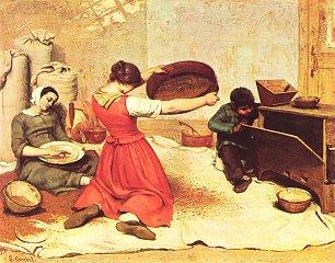 Gustave Courbet Die Kornsieberin Wandbilder