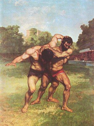 Gustave Courbet Ringkaempfer Wandbilder