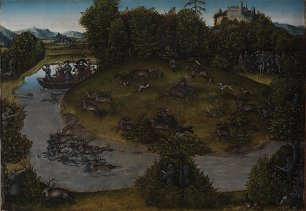 Lucas Cranach the Elder The Stag Hunt of the Elector Frederic the Wise of Saxony Wandbild