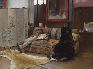 Pascal Adolphe Dagnan Bouveret Gustave Courtois in his Studio Wandbild