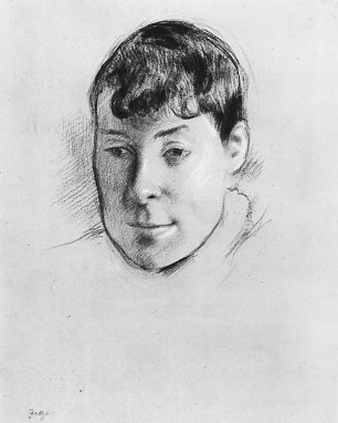 Edgar Degas Portrait der Madame Ernest May Wandbild