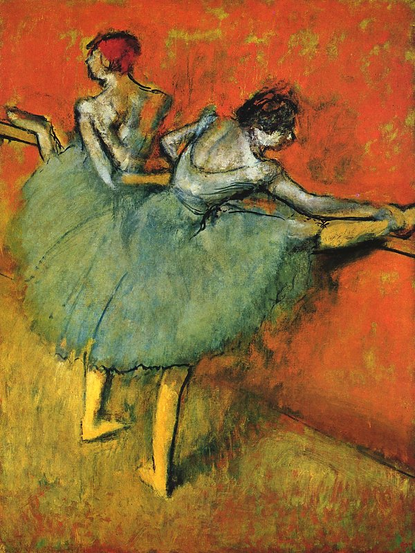 Edgar Degas Taenzerinnen an der Stange 1