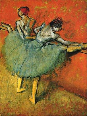 Edgar Degas Taenzerinnen an der Stange 1 Wandbilder