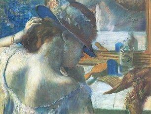 Edgar Degas Vor dem Spiegel Wandbilder