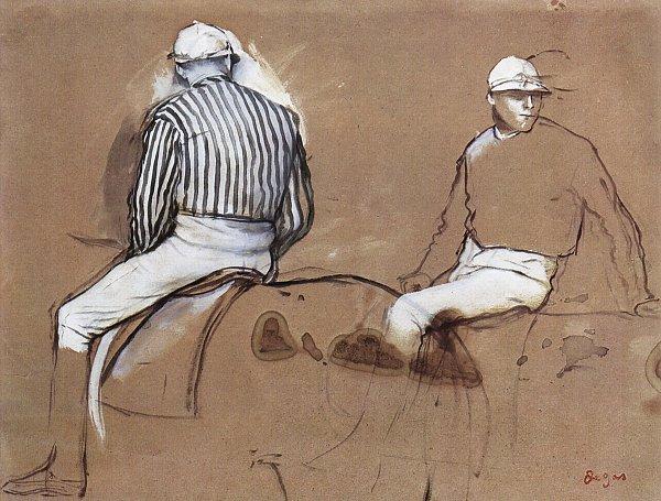 Edgar Degas Zwei Jockeys 1