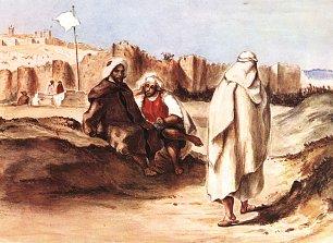 Eugene Delacroix Araber vor der Stadt Algier Wandbilder