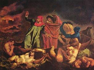 Eugene Delacroix Dante und Vergil in der Hoelle Die Dante Barke Wandbilder