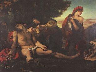 Eugene Delacroix Der heilige Sebastian Wandbilder
