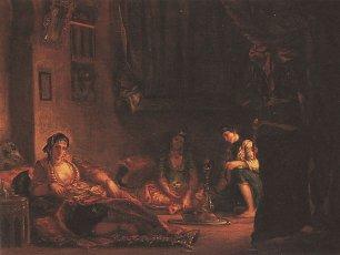 Eugene Delacroix Frauen aus Algier in ihrem Gemacht Wandbilder