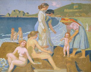 Maurice Denis Female bathers at Perros Guirec Wandbild