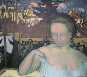 Maurice Denis Portrait of Marthe Denis the Artists Wife Wandbild