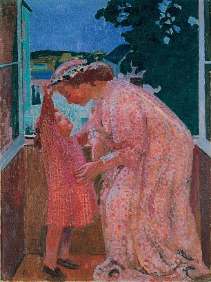 Maurice Denis the crown of daisies Wandbild