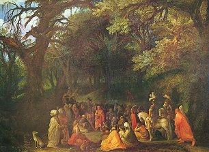 Adam Elsheimer Predigt Johannes des Taeufers 2 Wandbilder