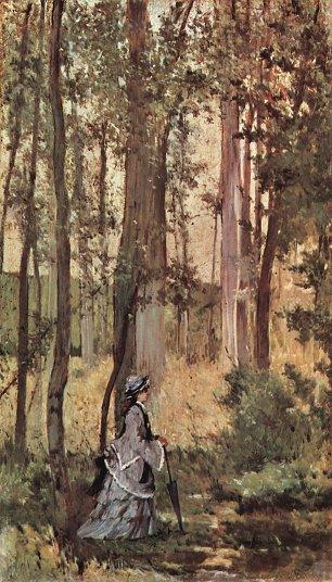 Giovanni Fattori Dame im Wald Wandbilder