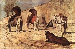 Giovanni Fattori Roemische Wagen Wandbilder