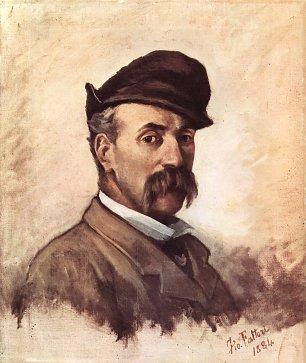 Giovanni Fattori SelbstPortrait mit fuenfzig Jahren Wandbilder