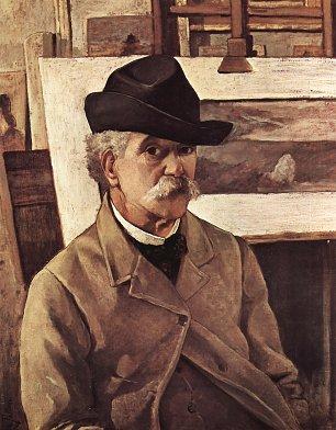 Giovanni Fattori SelbstPortrait mit sechzig Jahren Wandbilder