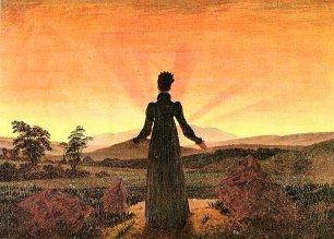 Caspar David Friedrich Frau vor untergehender Sonne Wandbilder