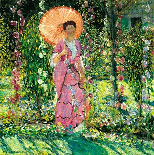 Frederick Carl Frieseke Stockrosen