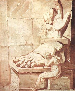 Johann Heinrich Fuessli Der Kuenstler verzweifelt Wandbilder