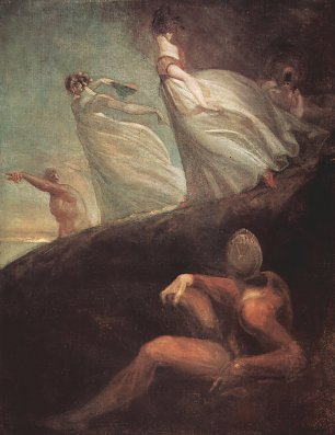 Johann Heinrich Fuessli Die Damen von Hastings Wandbilder