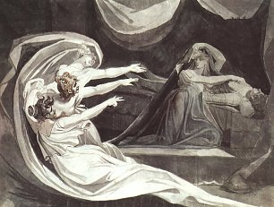 Johann Heinrich Fuessli Kriemhilds Gewissensbisse Wandbilder